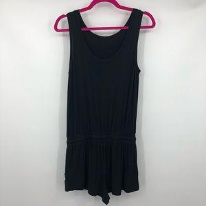 Stem Romper Shorts Black Elastic Waist XS